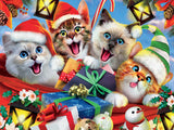 Selfies Christmas - Cats in Hats Selfie - 550 Piece Puzzle