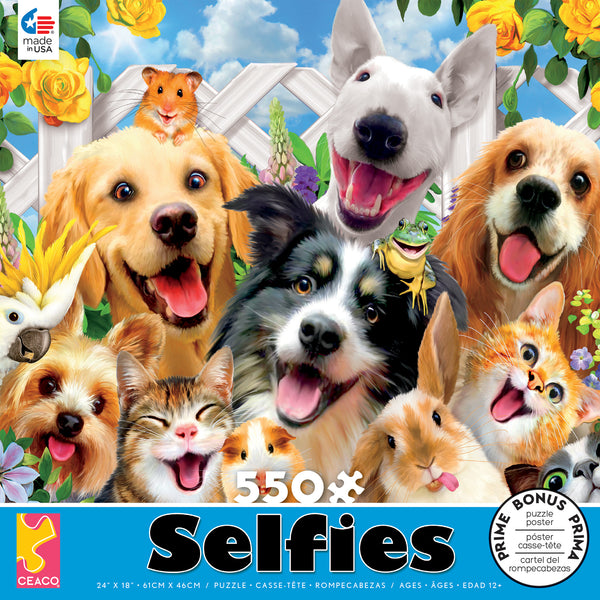 Selfies - Backyard Pals - 550 Piece Puzzle