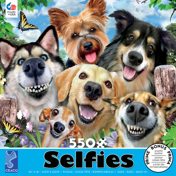Selfies - Dog Delight - 550 Piece Puzzle