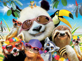 Selfies - Beach Party Panda - 550 Piece Puzzle
