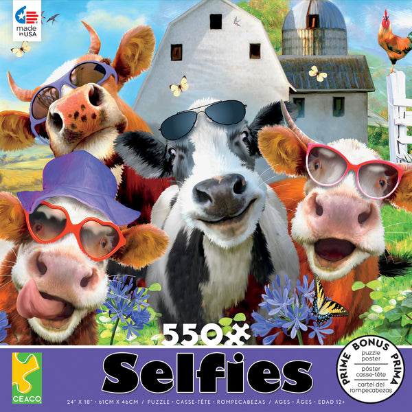 Selfies - Udderly Cool- 550 Piece Puzzle