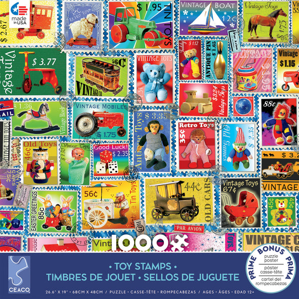 Stamps - Toy Stamps - 1000 Piece Puzzle