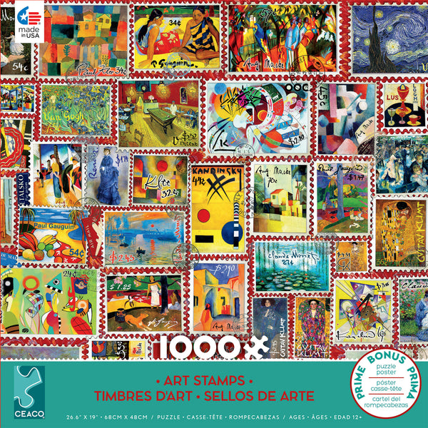 Stamps - Art Stamps - 1000 Piece Puzzle