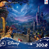 Thomas Kinkade Disney - Beauty and the Beast Moonlight - 300 Oversized Piece Puzzle