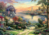 Thomas Kinkade - The New England Harbor - 1000 Piece Puzzle