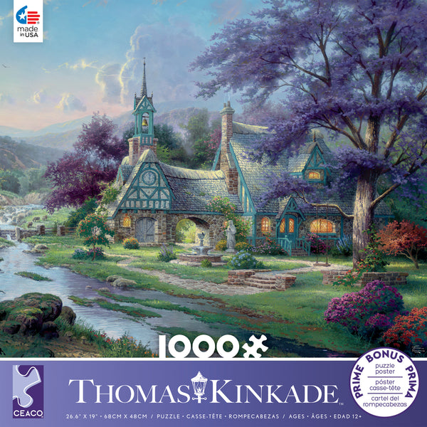 thomas kinkade clocktower cottage 1000 piece puzzle ceaco com rh ceaco com