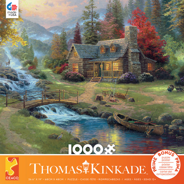 Thomas Kinkade - Mountain Paradise - 1000 Piece Puzzle