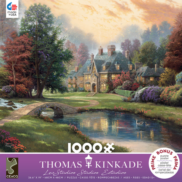 Thomas Kinkade - Lakeside Manor - 1000 Piece Puzzle