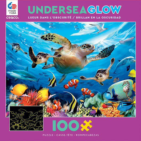 Undersea Glow - Journey of the Sea Turtles - 100 Piece Puzzle