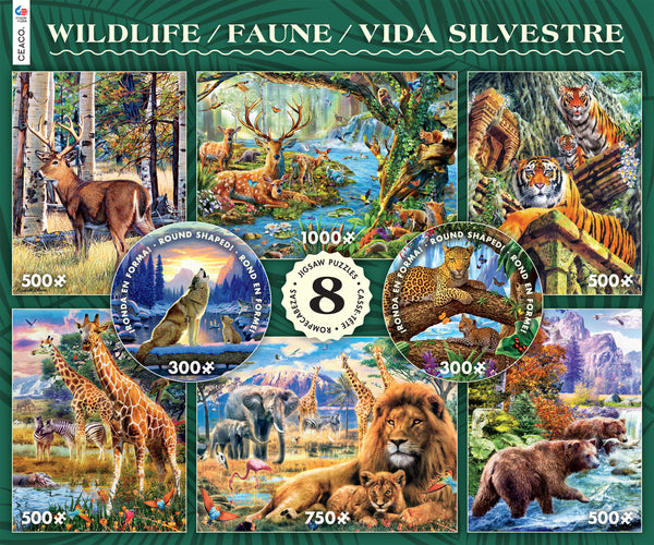 Wildlife 8 in 1 Puzzle Set