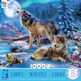 Wolves - Winter Wolf Family - 1000 Piece Puzzle