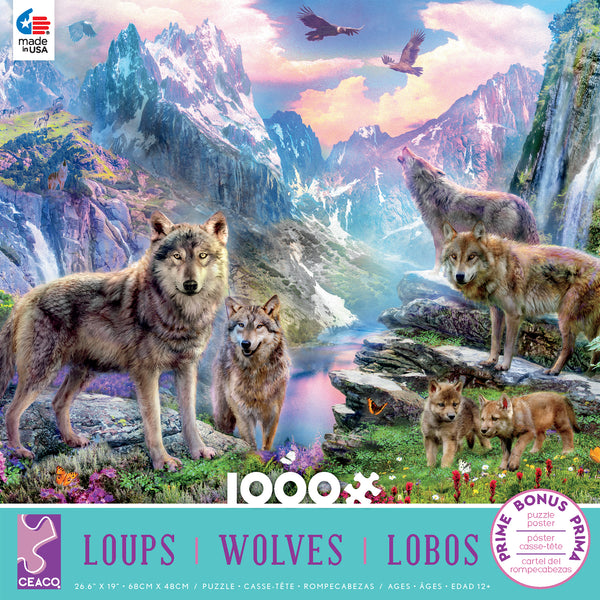 Wolves - Spring Wolves - 1000 Piece Puzzle
