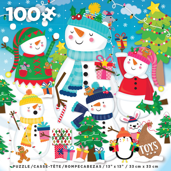Holiday 100 Piece - Merry & Bright - 100 piece puzzle