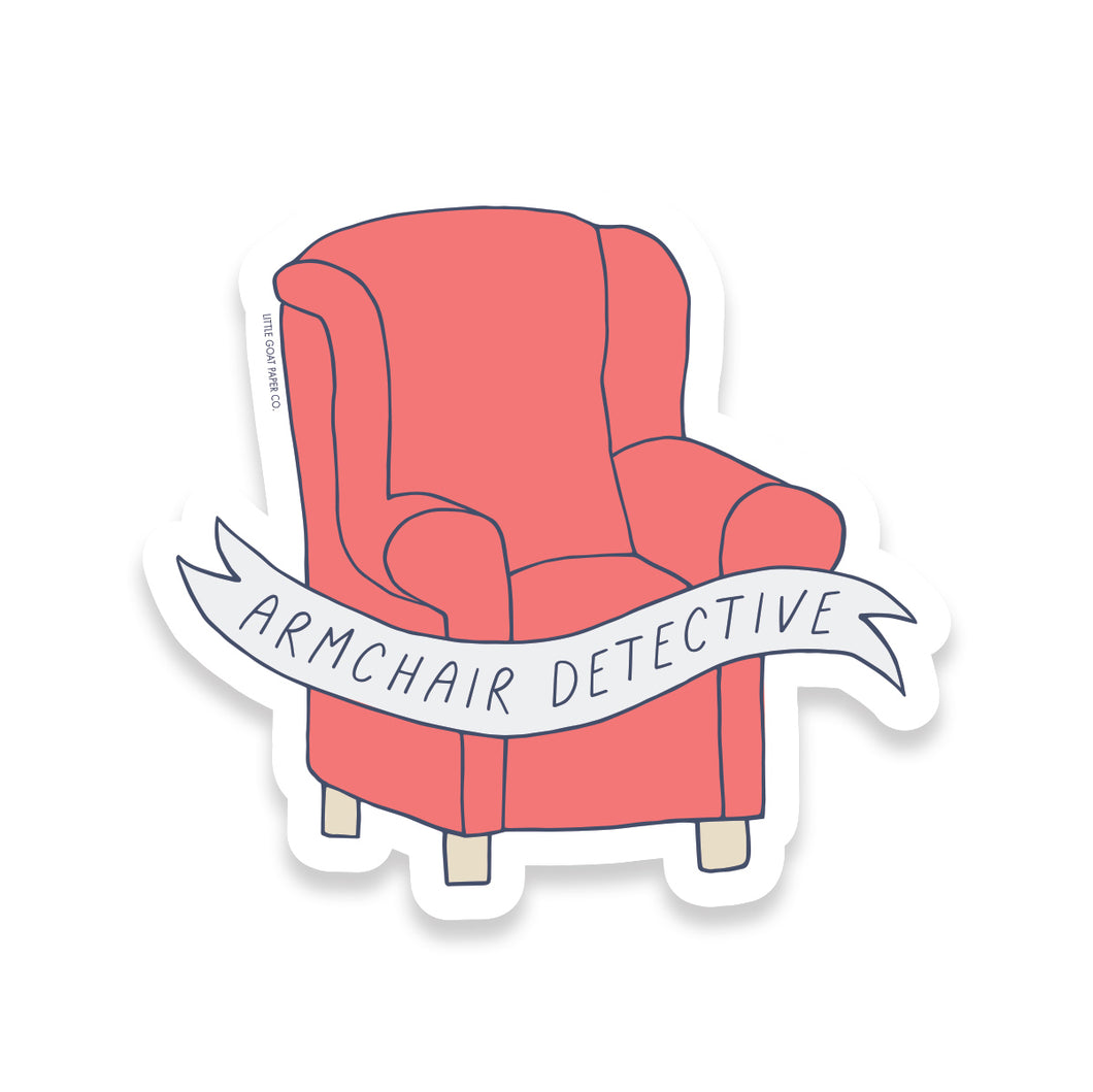Armchair Detective Sticker