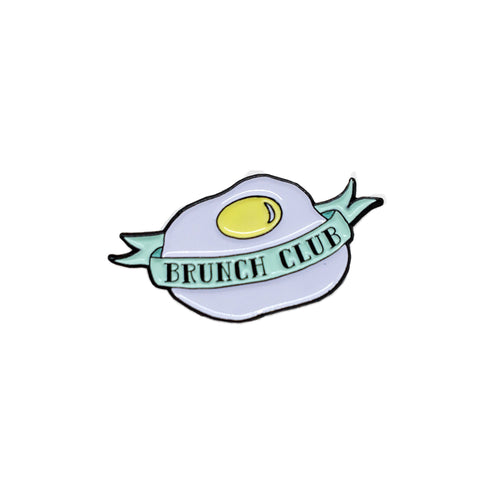 brunch club enamel pin
