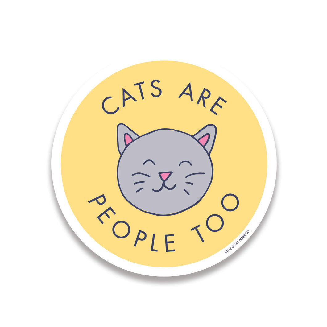 cats are people too sticker
