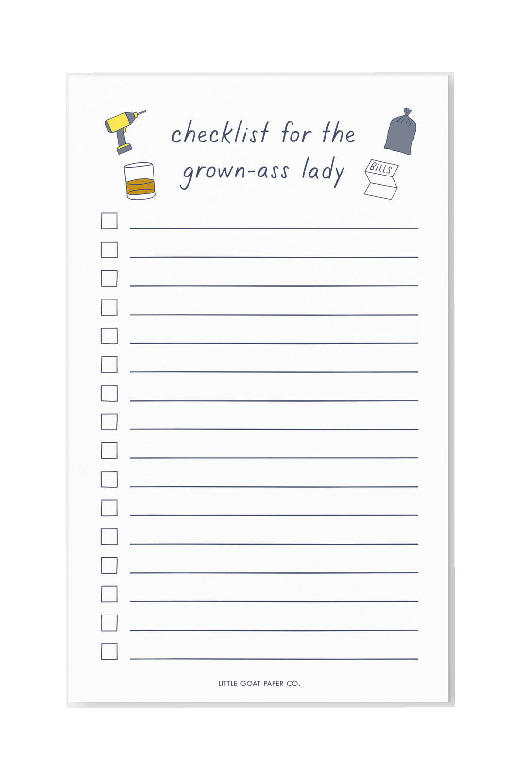 grown ass lady checklist