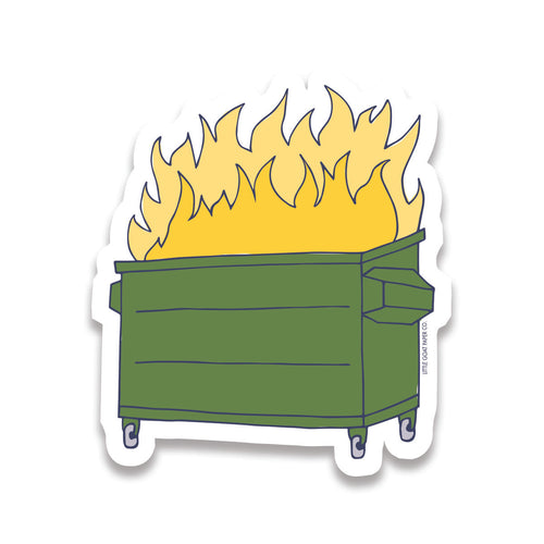 dumpster fire sticker