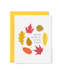 family of choice thanksgiving card