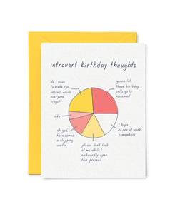 Introvert Birthday Thoughts Card