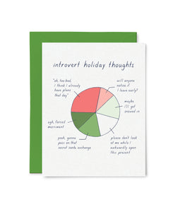 Introvert Holiday Thoughts Card