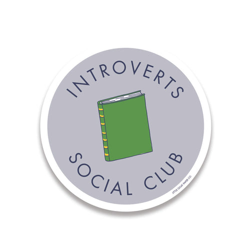 introverts social club sticker