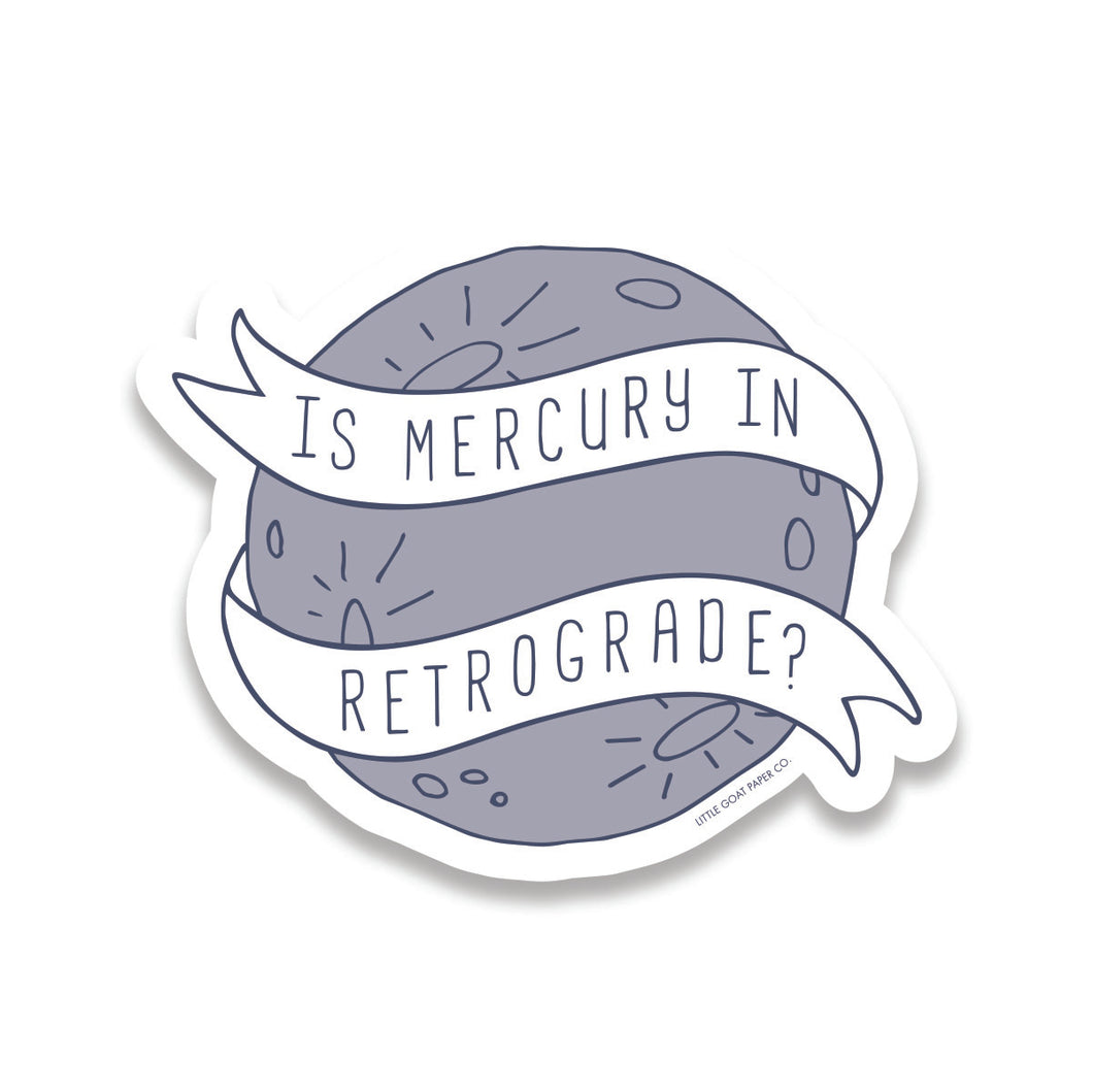 mercury retrograde sticker