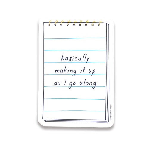 making it up sticker