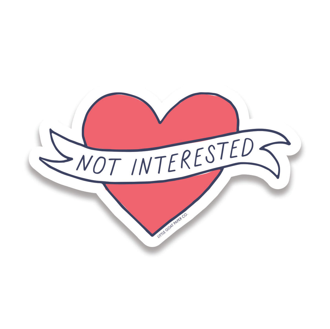 not interested sticker