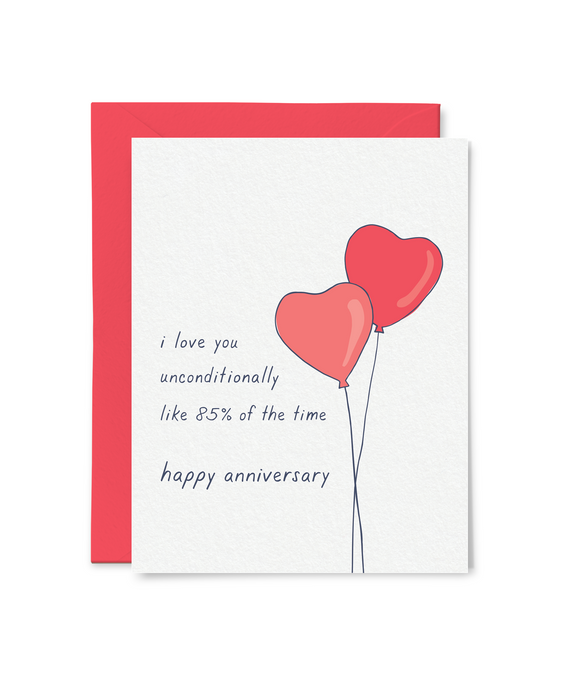 funny unconditional love anniversary card
