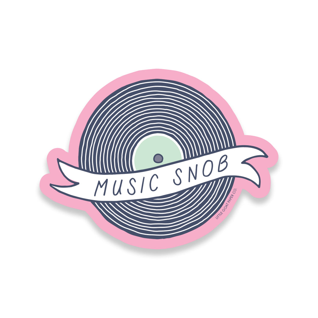 Music Snob Sticker