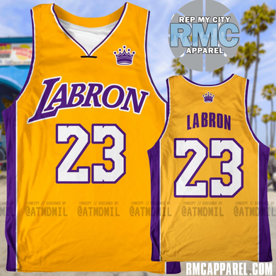 LABRON King James Los Angeles Custom Jersey