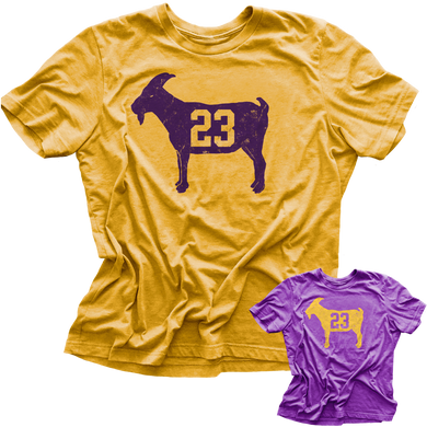 LeBron GOAT #23 Los Angeles (Purple & Gold) Vintage T-Shirt