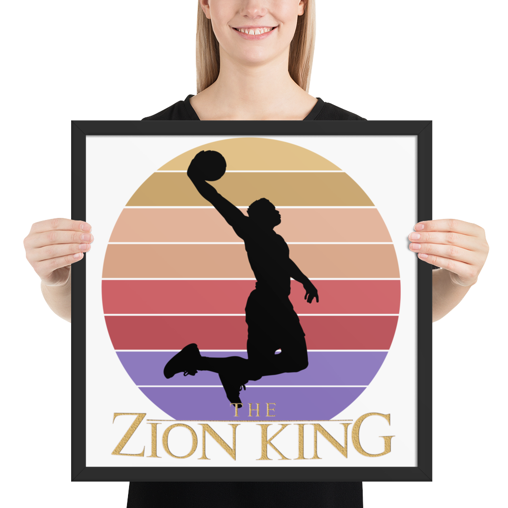 The Zion King Framed Poster