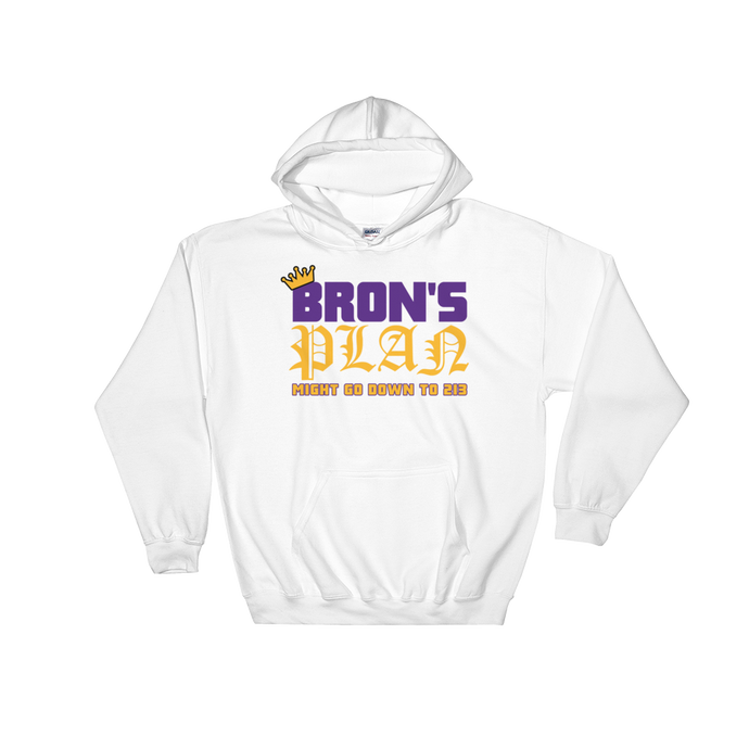Bron's Plan (Might Go Down to 213) Los Angeles Hooded Sweatshirt
