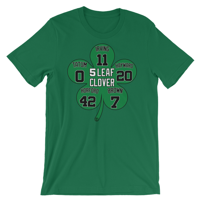 5 Leaf Clover Boston Starters Nickname Numbers T-Shirt