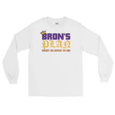 Bron's Plan (Might Go Down to 213) Los Angeles Long Sleeve T-Shirt