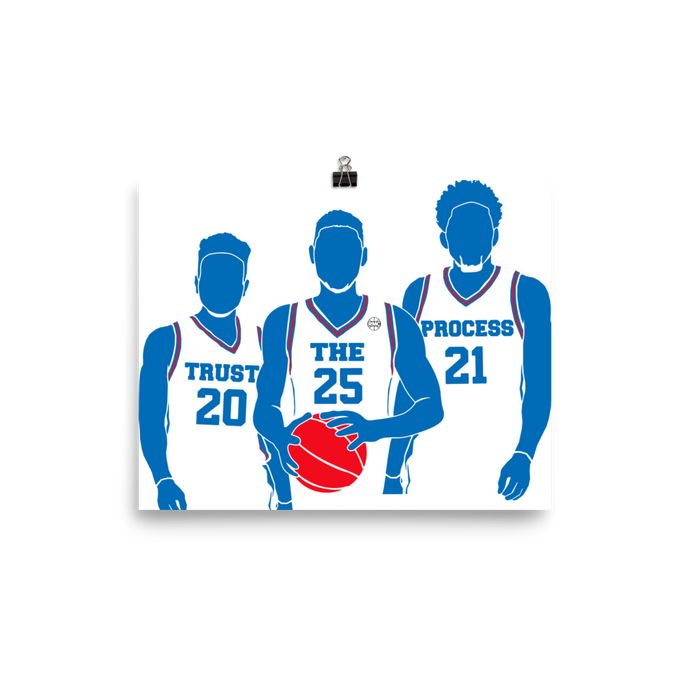 Trust the Process (Fultz, Simmons, Embiid) Poster