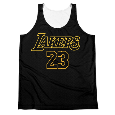 LeBron James #23 Los Angeles Black Statement Jersey Tank Top