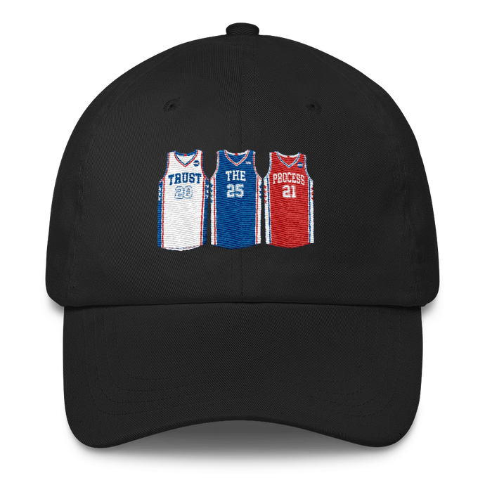 Trust the Process Philly Jerseys (Fultz Simmons Embiid) Classic Cap