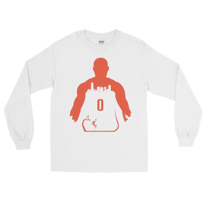 Westbrook #0 My City (OKC) Long Sleeve Shirt