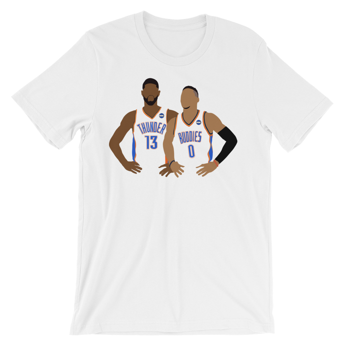 OKC Thunder Buddies (PG & Westbrook) Tee Shirt