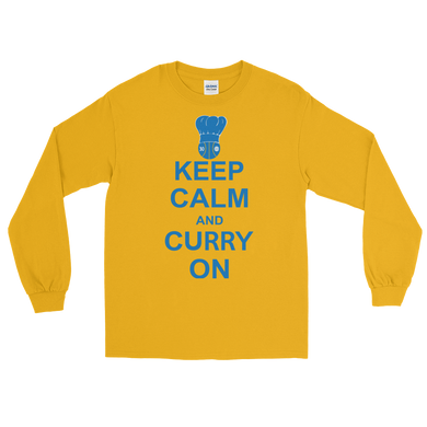 Keep Calm and Curry On Long Sleeve T-Shirt