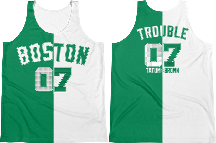 Boston TROUBLE 07 (Tatum & Brown) Split Jersey Tank Top