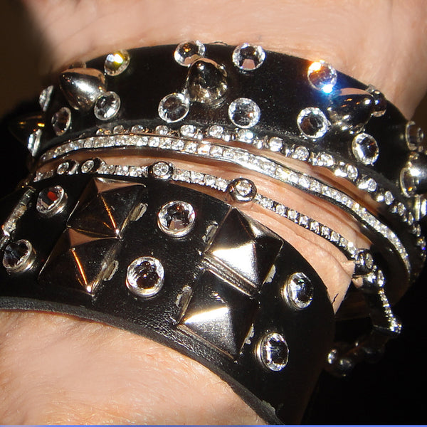 Studds & Spiked leather bracelets