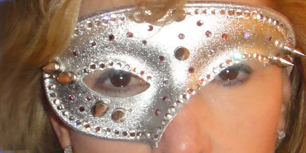 Silver Studded and spiked mask
