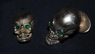 14 ct gold Skull Cufflinks