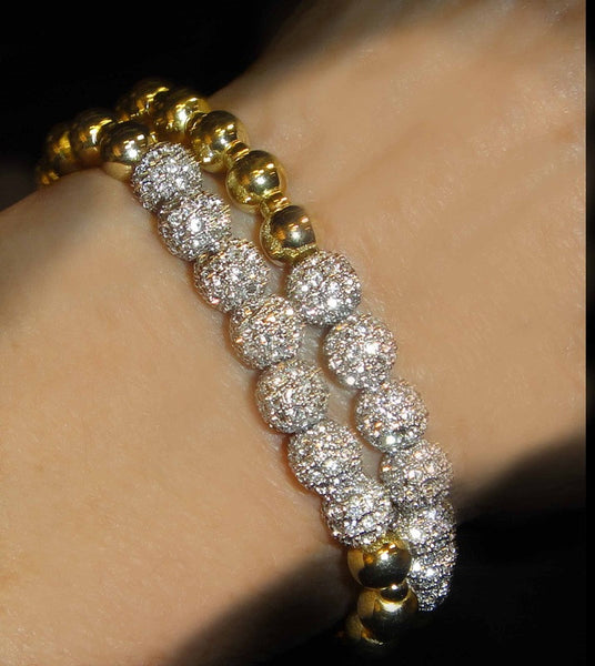 Diamond CZ Seven Ball Bracelet