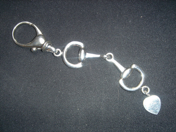 Sterling silver bit key ring