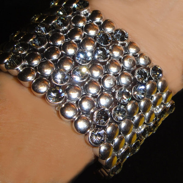 Knobby Silver with Crystals bracelet
